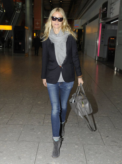 Gwyneth Paltrow walked through Heathrow.