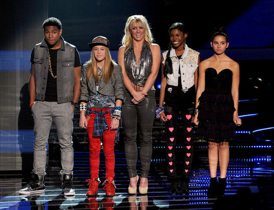 Britney Spears stood on stage to introduce her X Factor contestants during a live taping of the show in November 2012.