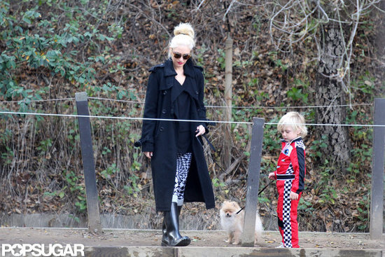 Gwen Stefani and Zuma took an afternoon walk with their dog in LA.