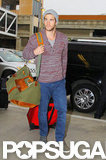 Liam Hemsworth Takes to the Friendly Skies in Style