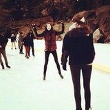 Hilary Rhoda went ice skating in Central Park. Source: Instagram user hilaryhrhoda
