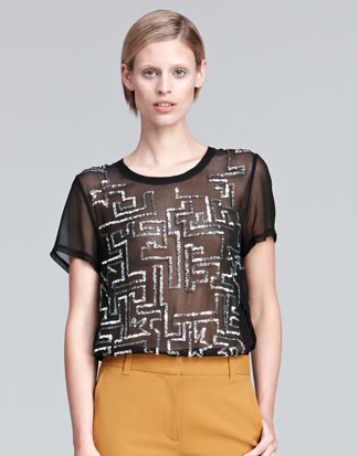 This 3.1 Phillip Lim sequined tee ($284, originally $425) is unlike any other sequined top out there; the geometric design and sheer quality make it a major conversation piece.