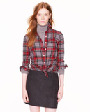 A classic, no-fail take on tartan with a touch of that cool boyfriend silhouette . . . you know what we're talking about? Good, here it is: J.Crew Boy Shirt ($88).