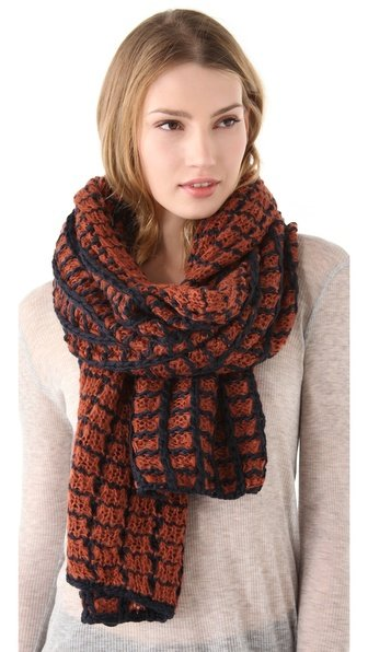 "There's something so cozy and ""my grandma hand-knit this for me"" about this contrasted Eugenia Kim Genie Becca yarn scarf ($66) that it certainly deserves its fair share of comfy loungewear complements."