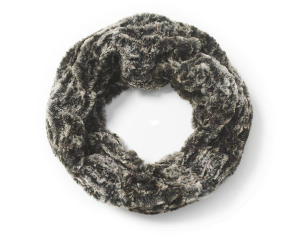 Words that come to mind when we see this Club Monaco Infinity Scarf ($90): sumptuous, gorgeous, stylish, festive, and must-have.