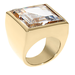 If you like a chunky cocktail ring, then choose this Michael Michael Kors gold tone clear ring ($115).