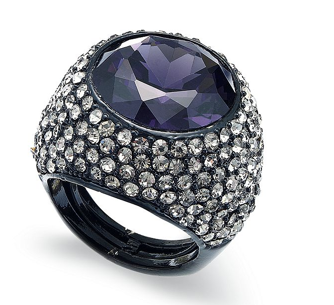 Juicy Couture's purple glass gem ring ($78) is the epitome of stunning. It would make your fingers sparkle from every angle.
