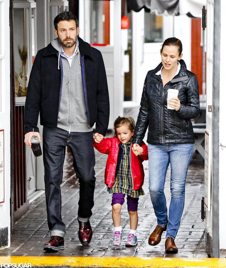 Ben Affleck and Jennifer Garner joined Seraphina for breakfast in Brentwood.