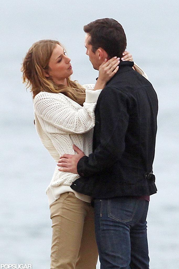 Emily VanCamp filmed a passionate scene with her Revenge costar Barry Sloane.