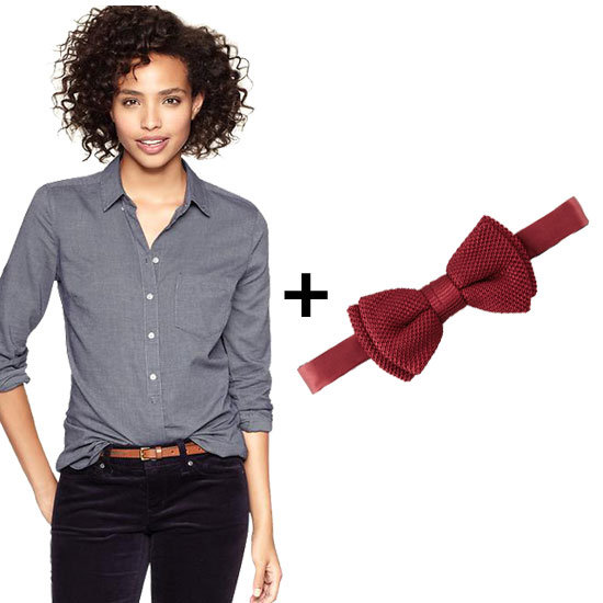 We're Obsessed With Wearing Shirts + Bow Ties — Here's Why
