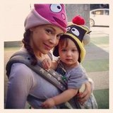 Alyssa Milano and lil Milo dressed up for their first Yo Gabba Gabba! concert. Source: Instagram user milano_alyssa
