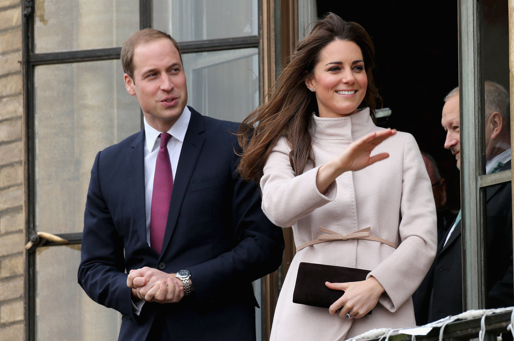 Prince William and Kate Middleton, Duchess of Cambridge, were looking as cute as ever as they waved to crowds from the balcony of the Cambridge Guildhall on November 28.