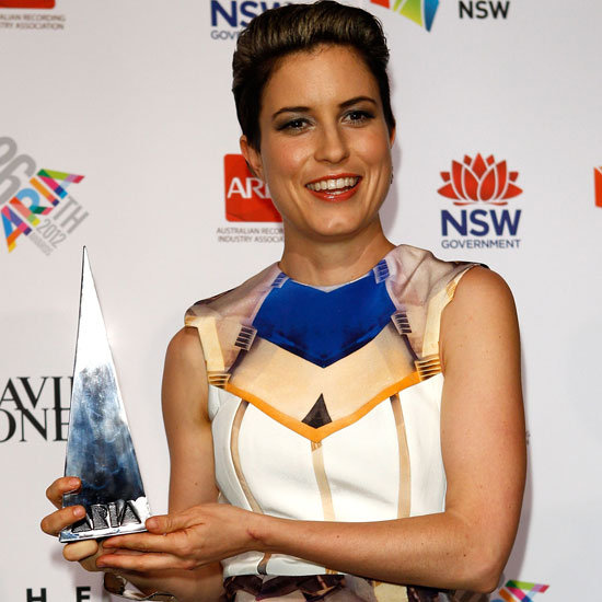 Missy Higgins Wears Ode to No One Dress to the 2012 ARIAs
