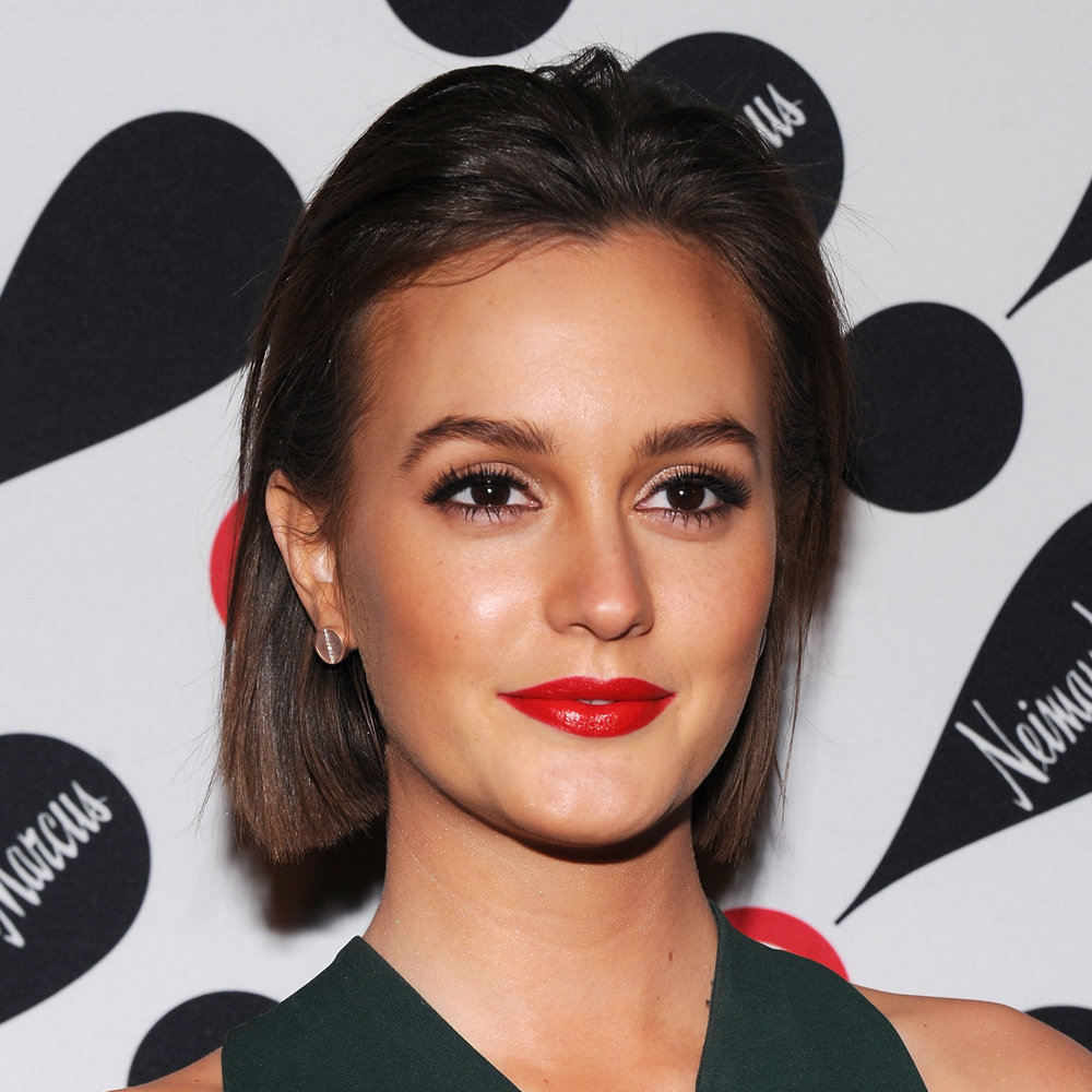 Leighton Meester's perfect red lips