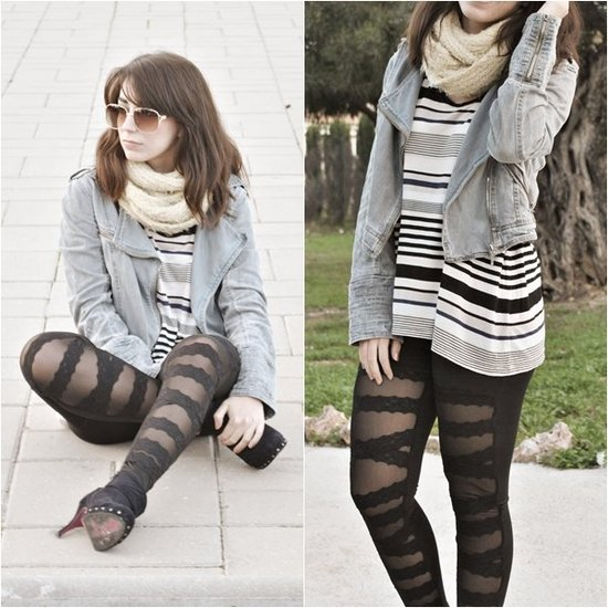 Lace, stripes & denim