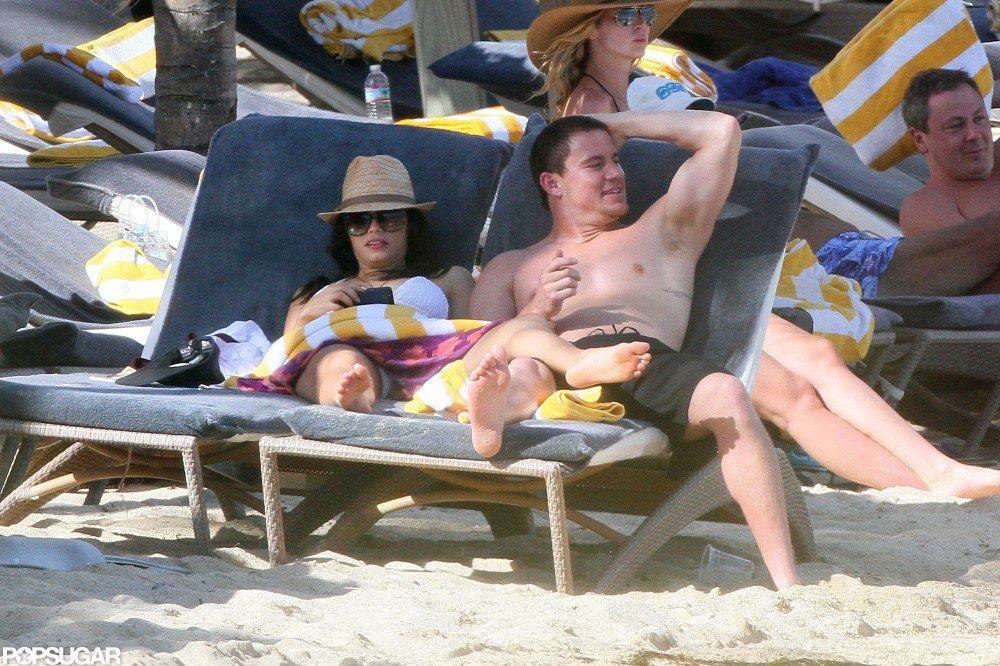 Channing Tatum Snaps Photos of Pregnant and Bikini-Clad Jenna Dewan