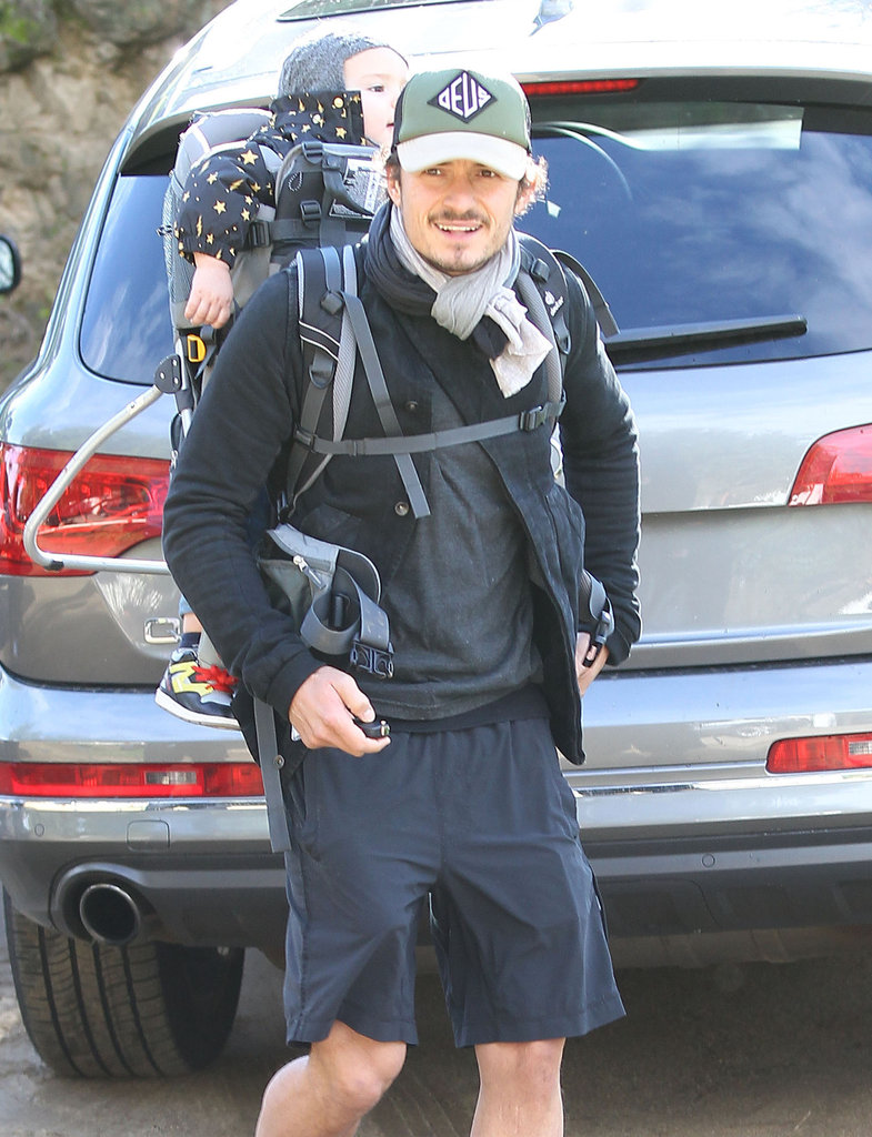 Orlando Bloom took Flynn Bloom hiking.
