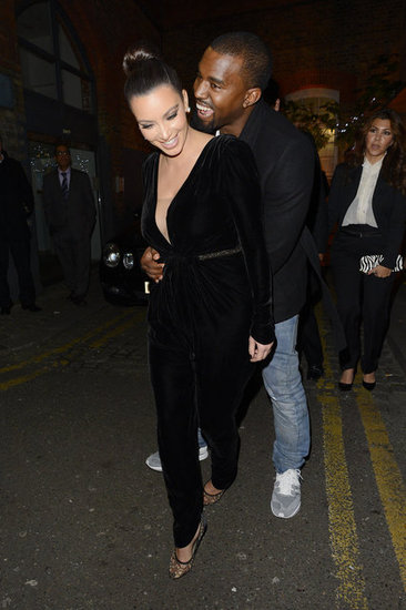 Kim Kardashian and Kanye West got cute during a November 2012 trip to London.