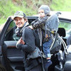 Orlando Bloom Hiking With Flynn at Runyon Canyon, LA