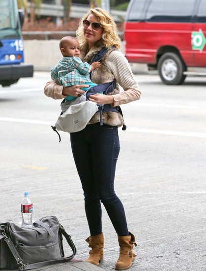 Katherine Heigl Flies With Adorable Baby Adalaide
