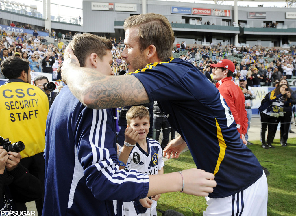 David Beckham Celebrates Emotional Final MLS Game With His Family