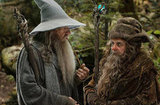 Ian McKellan and Sylvester McCoy in The Hobbit: An Unexpected Journey.