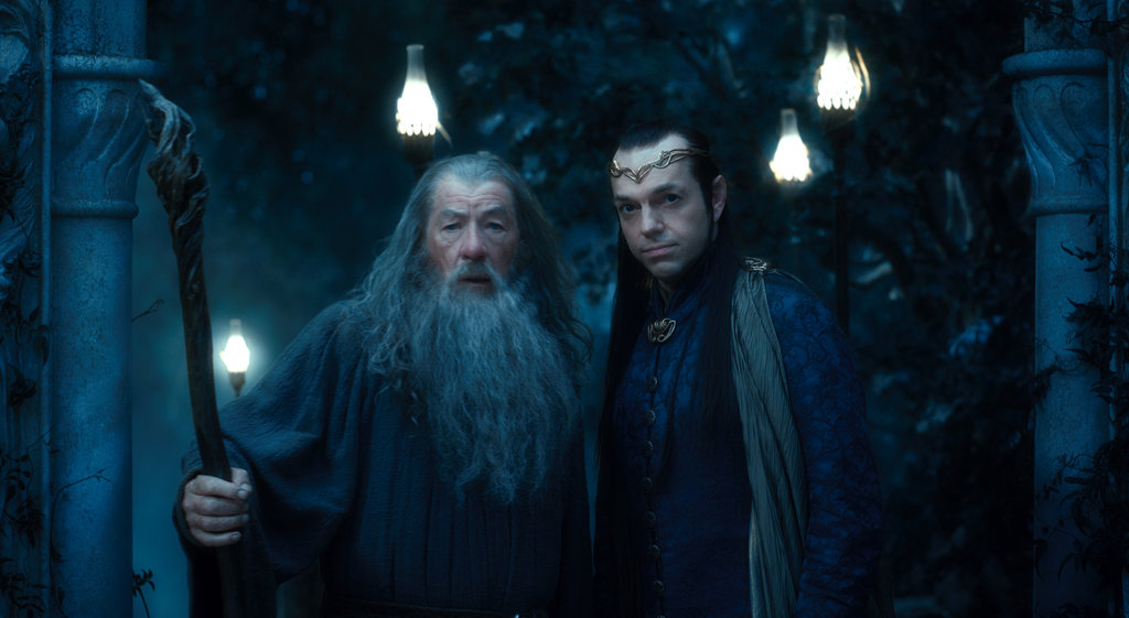 Ian McKellan and Hugo Weaving in The Hobbit: An Unexpected Journey.