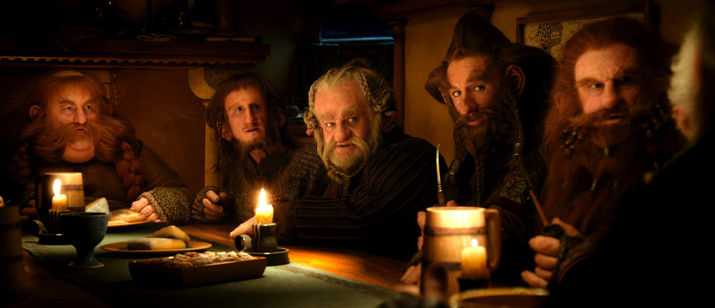 Stephen Hunter, Adam Brown, Mark Hadlow, Jed Brophy, and Peter Hamilton in The Hobbit: An Unexpected Journey.
