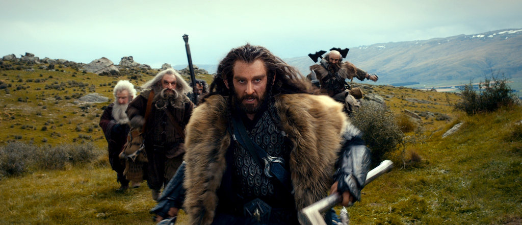 Ken Stott, John Callen, William Kircher, Richard Armitage, and Graham McTavish in The Hobbit: An Unexpected Journey.