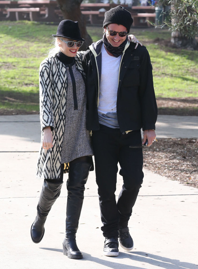 Gwen Stefani and Gavin Rossdale shared a laugh during a couple's outing in LA in December 2012.