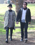 Gwen Stefani and Gavin Rossdale held hands at the park.