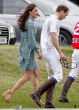Prince William had the support of his wife, the Duchess of Cambridge, at the Audi Polo Challenge charity polo match in Ascot in May.