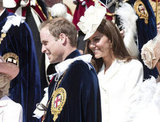 Kate Middleton and Prince William both attended The Order Of The Garter Service in England in the Summer of 2012.