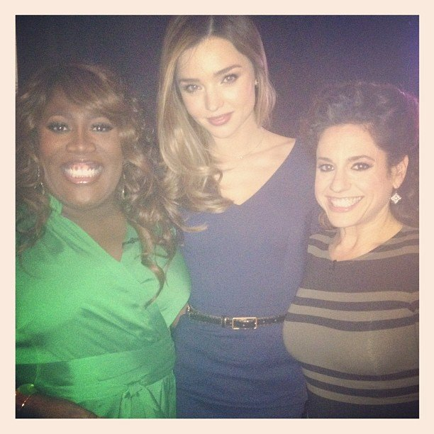 Miranda Kerr stopped by the set of The Talk. Source: Instagram user mirandakerrverified