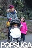 Isla Fisher and her daughters went for a walk.