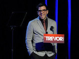 Zachary Quinto was on stage at the Trevor Live benefit in LA.