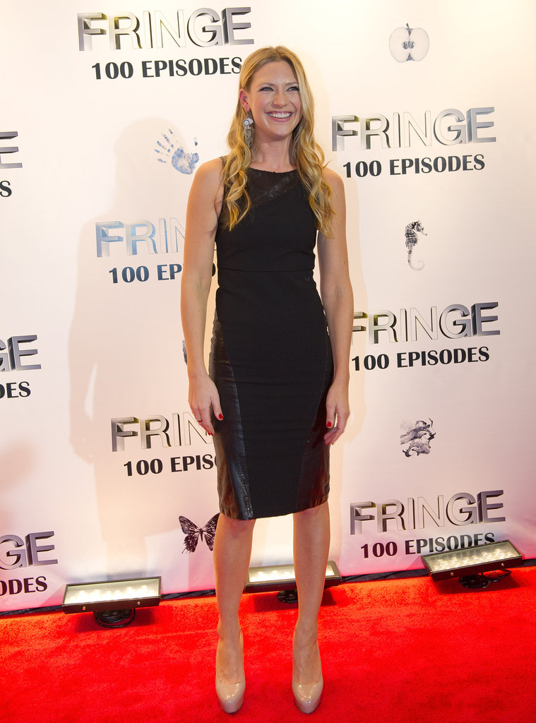 Anna Torv wore a black dress at the Fringe100 episodes and final season party in Vancouver.
