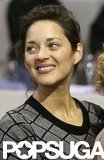 Marion Cotillard had a smile on her face at the Paris Masters.