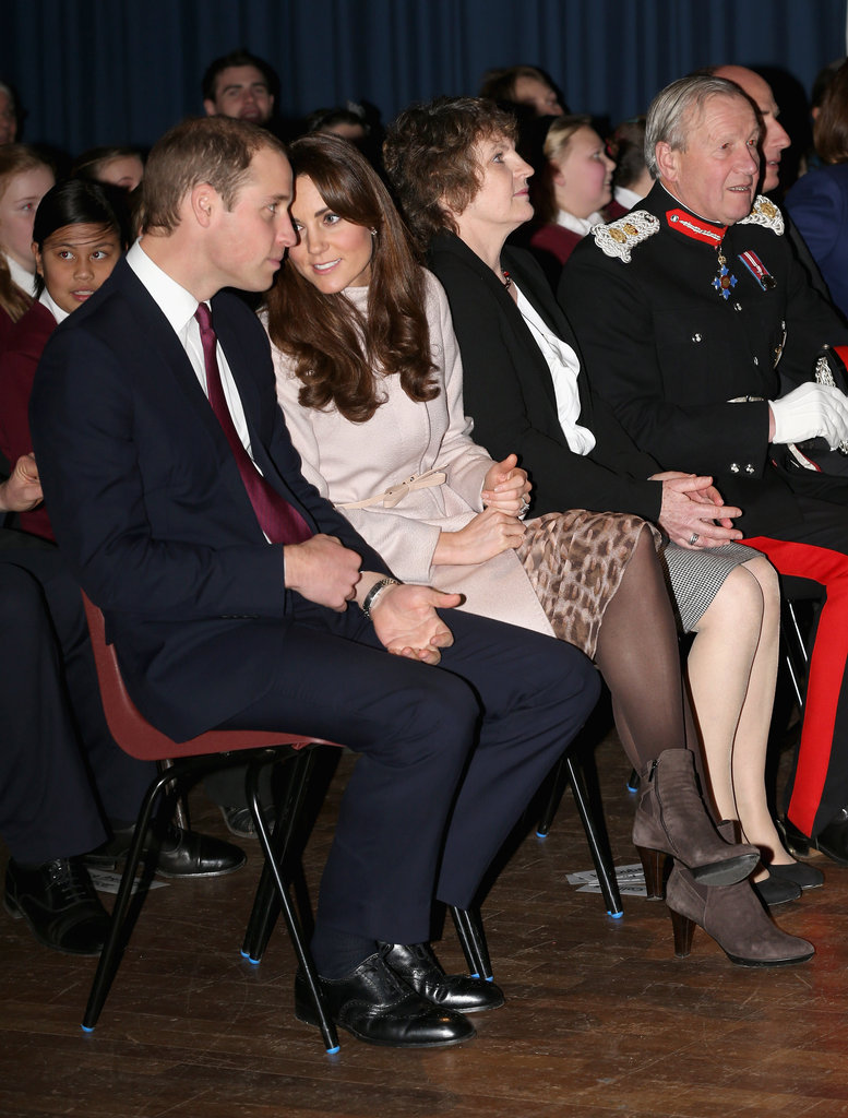 Kate Middleton and Prince William watched a performance from schoolchildren during their November visit to Cambridge.