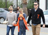Reese Witherspoon and Jim Toth held her son Deacon's hand while out to breakfast.
