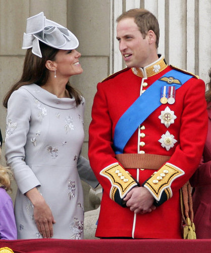 Kate and William got formal for the June 2012 trooping the color ceremony in London.