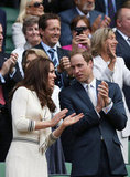 Kate Middleton and Prince William spent a July afternoon at the Royal Box at Wimbledon.