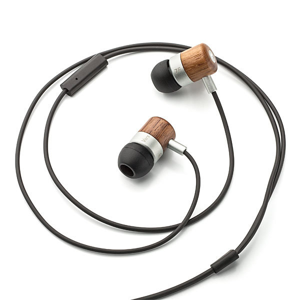 Vers 7E Enhanced Bass Wooden Earbuds With Mic