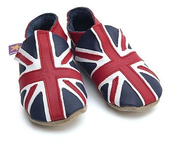Soft Leather Union Jack Baby Shoes