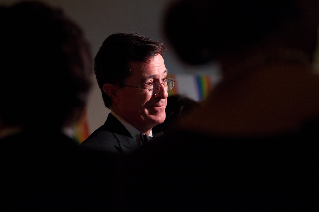 Stephen Colbert arrived at the event.