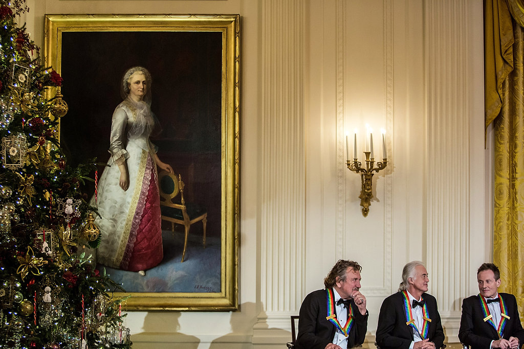 Kennedy Center honorees sat together during the White House reception.