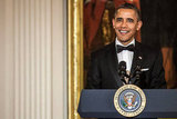 Barack Obama addressed the audience of the Kennedy Center Honors at the White House.