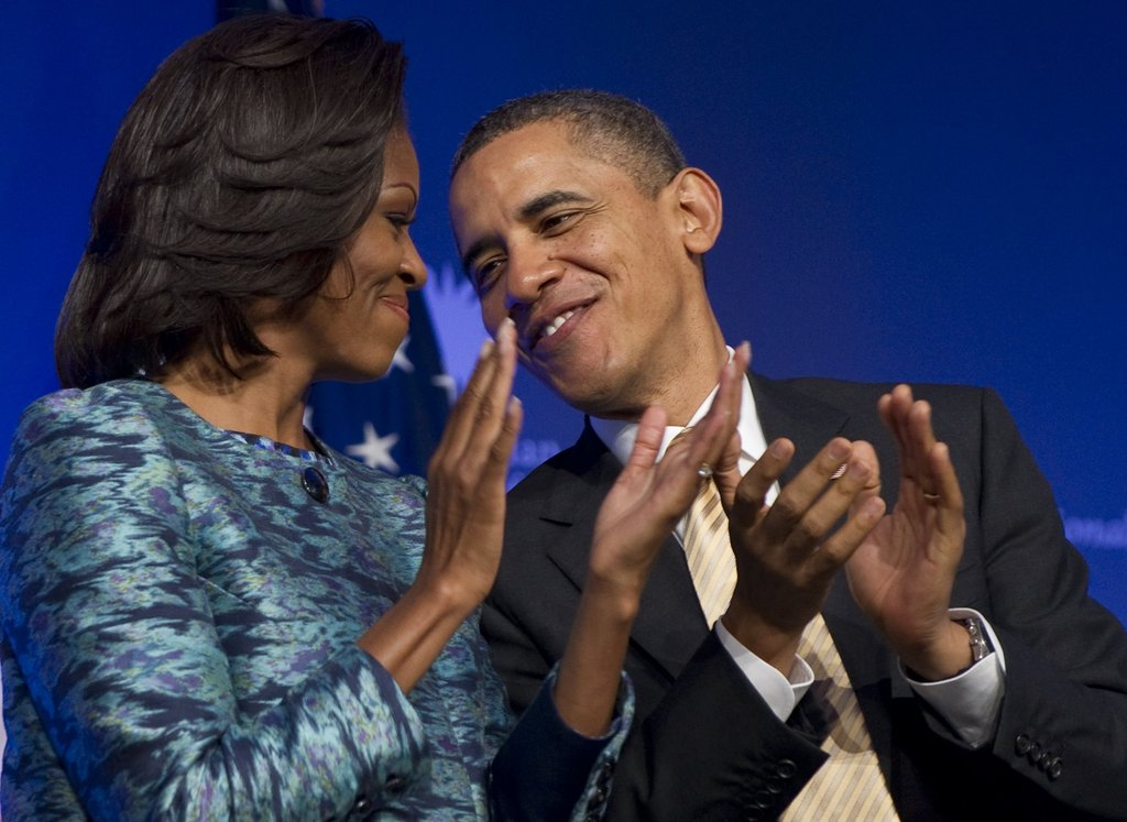 The Obamas shared a cute look at a Smithsonian event in February.