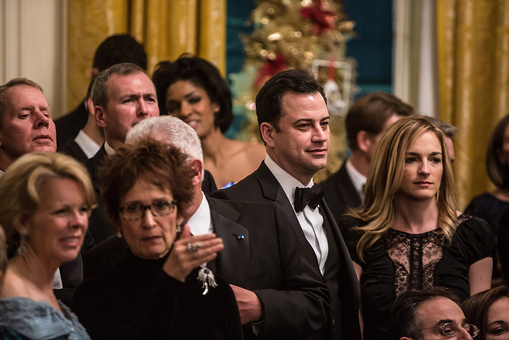 Jimmy Kimmel and wife Molly McNearney looked on at the event.