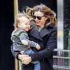 Miranda Kerr and Flynn Bloom Pictures Going to Brunch in NYC